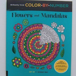 Flowers and Mandalas COLOR-BY-NUMBER (NWT)